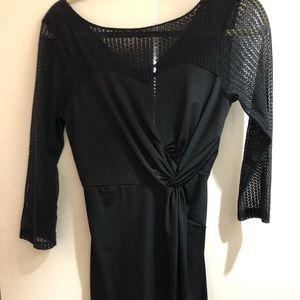 Elegant black dress, estimated size 0.